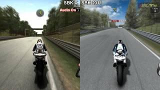 SBK X vs SBK 2011 - Monza Comparison