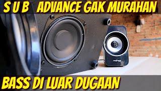 Speaker Bass Test Subwoofer Advance Bluetooth Wireless M180BT ( Bongkar Dan Review Refrensi Beli )