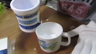 理科の実験(小4) ドライアイス(スーパーでもらったもの)に水を入れ...