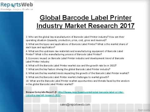 SWOT Analysis of Global Barcode Label Printer Market 2017