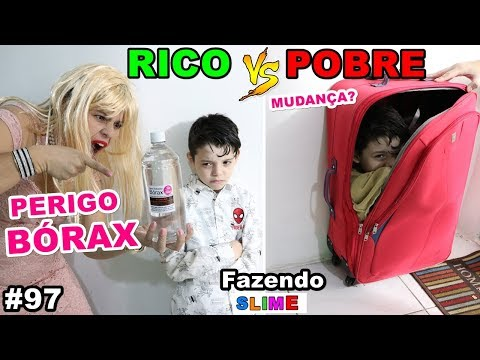 RICO VS POBRE FAZENDO AMOEBA / SLIME #97