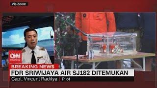 Capt. Vincent: Penemuan Black Box jadi Titik Terang Penyebab Jatuhnya Pesawat Sriwijaya Air SJ182