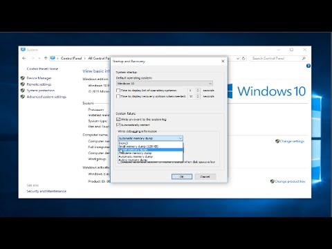 How To Configure Various Dump Files In Windows 10
