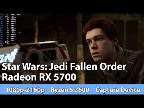 Gaming on Radeon RX 5700 AMD Ryzen 5 3600. Star Wars: Jedi Fallen Order Test