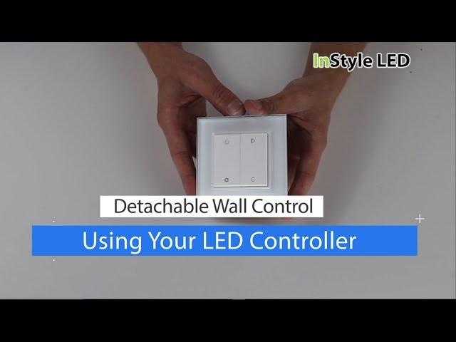 How to set up & use a Detachable LED Wall Control - LED strip lights