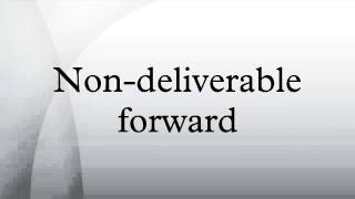Non-deliverable forward