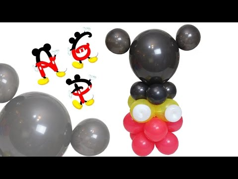 Curso de Globos Columna / Centro de Mesa Mickey Mouse Микки Маус