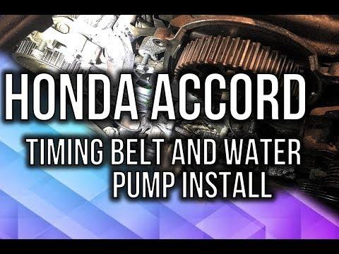 Honda Accord V6 Timing Belt and Water Pump Installation