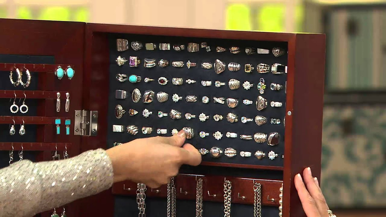 Gold & Silver Safekeeper Mirrored Jewelry Cabinet by Lori Greiner ...