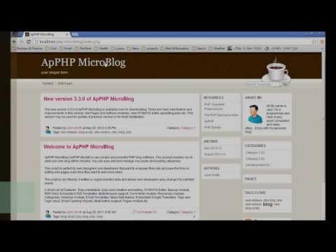 ApPHP MicroBlog - General Settings in Admin Panel