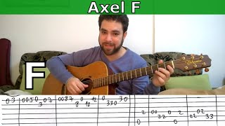 Fingerstyle Tutorial: Axel F (aka Crazy Frog) - Guitar Lesson w/ TAB