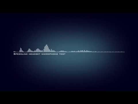 Speedlink headset microphone test