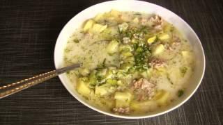 Суп! С плавленным сырком и луком порей!