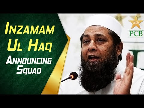 Chief Selector Inzamam ul Haq announcing squad for Ireland and England tour