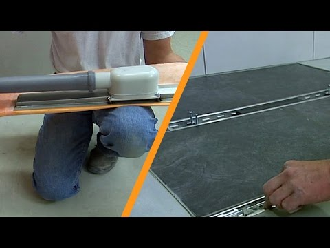 Duş alanını hat drenajıyla döşemek: Merkezi montaj