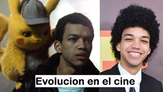 Justice Smith - Evolucion en el cine. Detective Pikachu, Jurassic World 2, Paper Towns, The Get Down