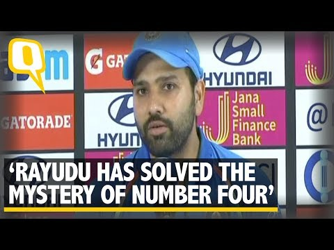 Rohit Sharma Believes Rayadu Has Solved The Mystery of Number Four | The Quint