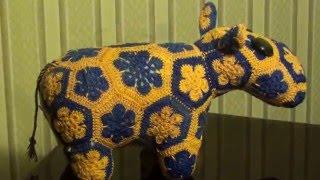 Вязаный бегемот/Knitted hippo ( English subtitles )