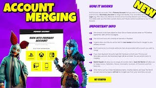 NEW ACCOUNT MERGING FEATURE - How to Merge Accounts TUTORIAL in Fortnite