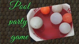 Pool party game.summer theme  game in water for kitty party