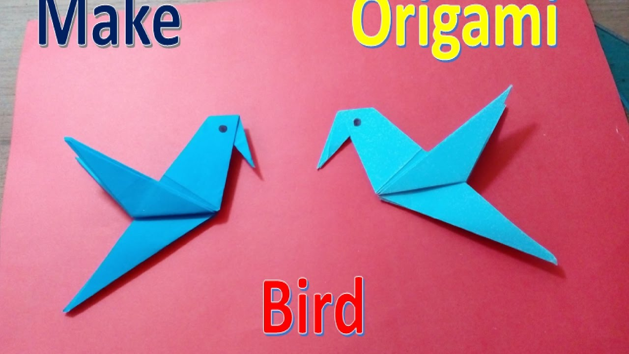 How To Make A Paper Origami Bird Easy Simple Life Hack