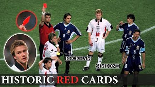 Shocking and Unforgettable Red Cards in Football