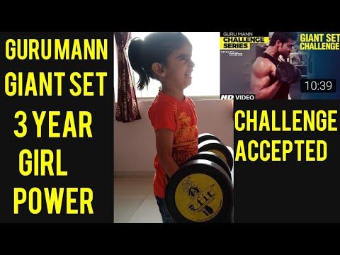 GURU MANN GIANT SET CHALLENGE ACCEPTED : 3 year Girl Aaradhya Rajpurohit