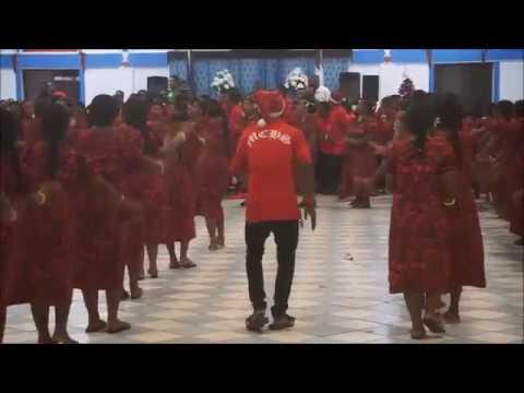 2016 Christmas Uliga church Marshall Islands (マーシャル諸島 ビートダンス)