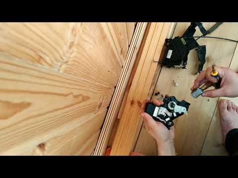 Разбор замка двери Mazda 3 Bk центральный замок