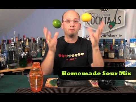 How To Make Homemade Sour Mix - YouTube