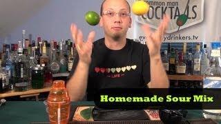 How To Make Homemade Sour Mix 🍋🍋