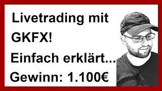 Livetrading GKFX | 1.100€ | Einfach erklärt | Daytrading für Anfänger | Daytrading lernen | trading