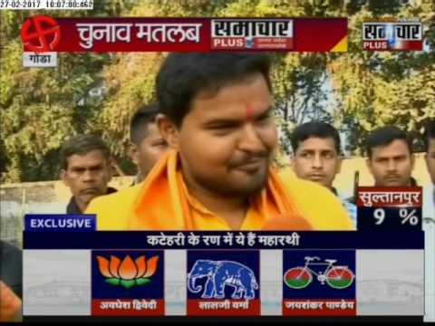 Exclusive Talk BJP Candidate Prateek Bhushan Singh outside Polling Booth in Gonda