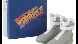'Air Mag' Back to the Future 2 Light Up Shoes Halloween Unboxing+ Review Universal Studios Prop