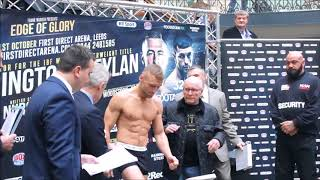 WEIGH IN FOOTAGE: WARRINGTON V CEYLAN NURSE V CATTERALL AND ALSO FULL UNDERCARD FROM LEEDS