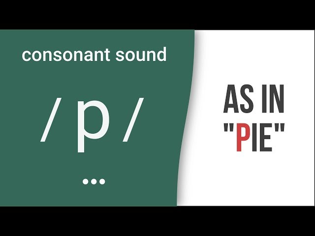 Consonant Sound / p / as in