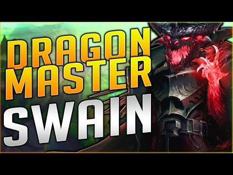 NEW DRAGON MASTER SWAIN SKIN IS SO FREAKING AWESOME!! Dragon Master Swain Gameplay Season 8 - PBE