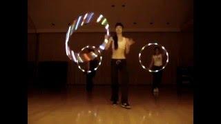 フラフープ ledフープダンス パフォーマンス 001