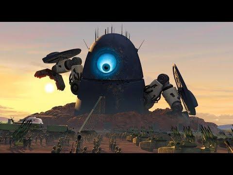 Робот пенисоватой формы VS Военные \ Монстры против пришельцев Monsters Vs. Aliens