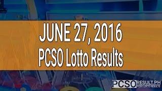 PCSO Lotto Results June 27, 2016 (6/55, 6/45, 4D, Swertres & EZ2)