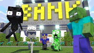 Monster School  Robbery Villager - Minecraft Animation