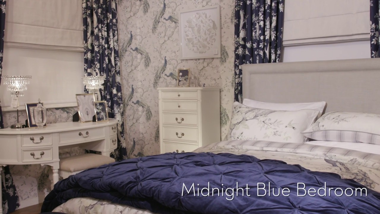 Laura Ashley Midnight Blue Bedroom Autumn Winter 2018 Collection