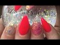 Acrylic Nails | Pink Flamingo | Magic Glitter