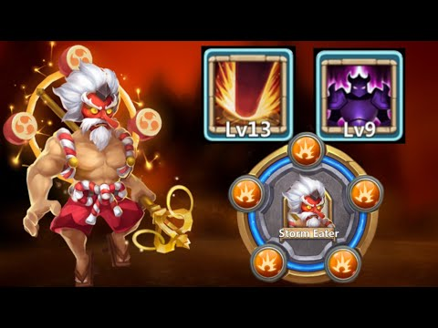 Storm Eater | Max Skill 13/13 | Max Skin L | Max BT 30 In Action | 9/9 Wicked Armor | Castle Clash