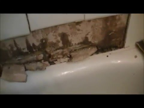 Bathtub Tile Falls Off Wall Youtube