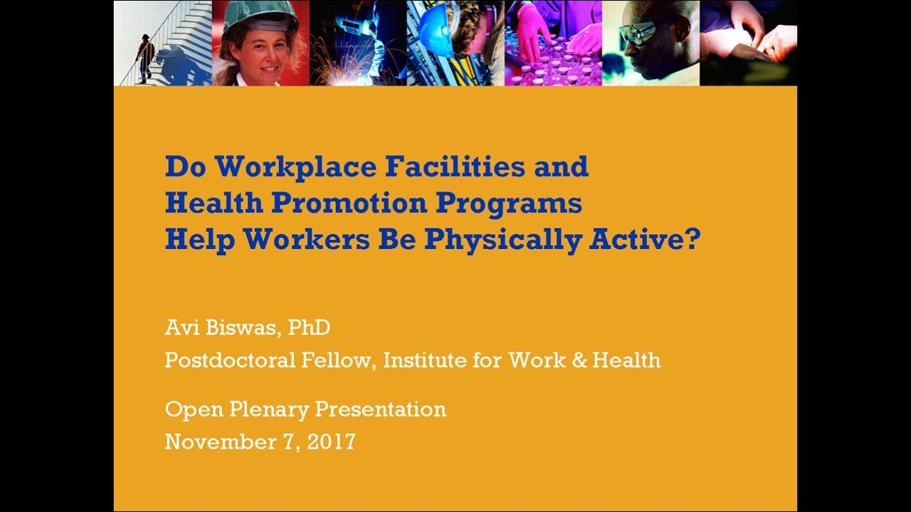 Workplace Health Promotion Programs and Physical Activity ...