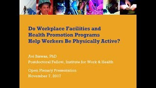 Workplace Health Promotion Programs and Physical Activity (Nov 7, 2017)