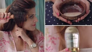 How To Tame And Get Rid Of Frizzy Hair | DIY Hair Mask For Frizz And Hairstyles