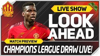 UEFA CHAMPIONS LEAGUE DRAW LIVE Knockout Stage Reaction! Man Utd News Now