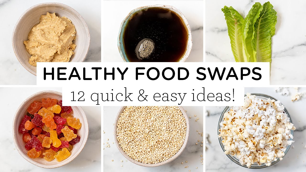 12 HEALTHY FOOD SWAPS ‣‣ vegan & gluten-free